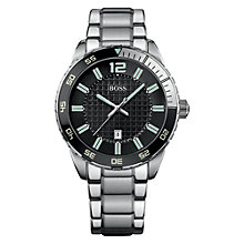 Buy BOSS 1512889 Men's Double Textured Dial Watch, Silver Online at johnlewis.com