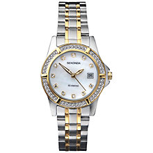 Buy Sekonda 4174.27 Women's Diamante Mother of Pearl Watch, Silver / Gold Online at johnlewis.com
