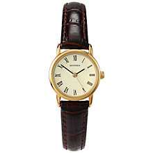 Buy Sekonda 4458.27 Women's Croc Strap Watch, Gold / Brown Online at johnlewis.com