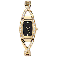 Buy Sekonda 4626.27 Women's Diamante Twist Watch, Black / Gold Online at johnlewis.com