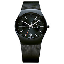 Buy Skagen 983XLBB Men's Black Label Architect Watch, Black Online at johnlewis.com