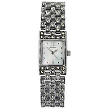 Buy Sekonda 4880.27 Women's Marcasite Bracelet Rectangular Watch, Black Online at johnlewis.com