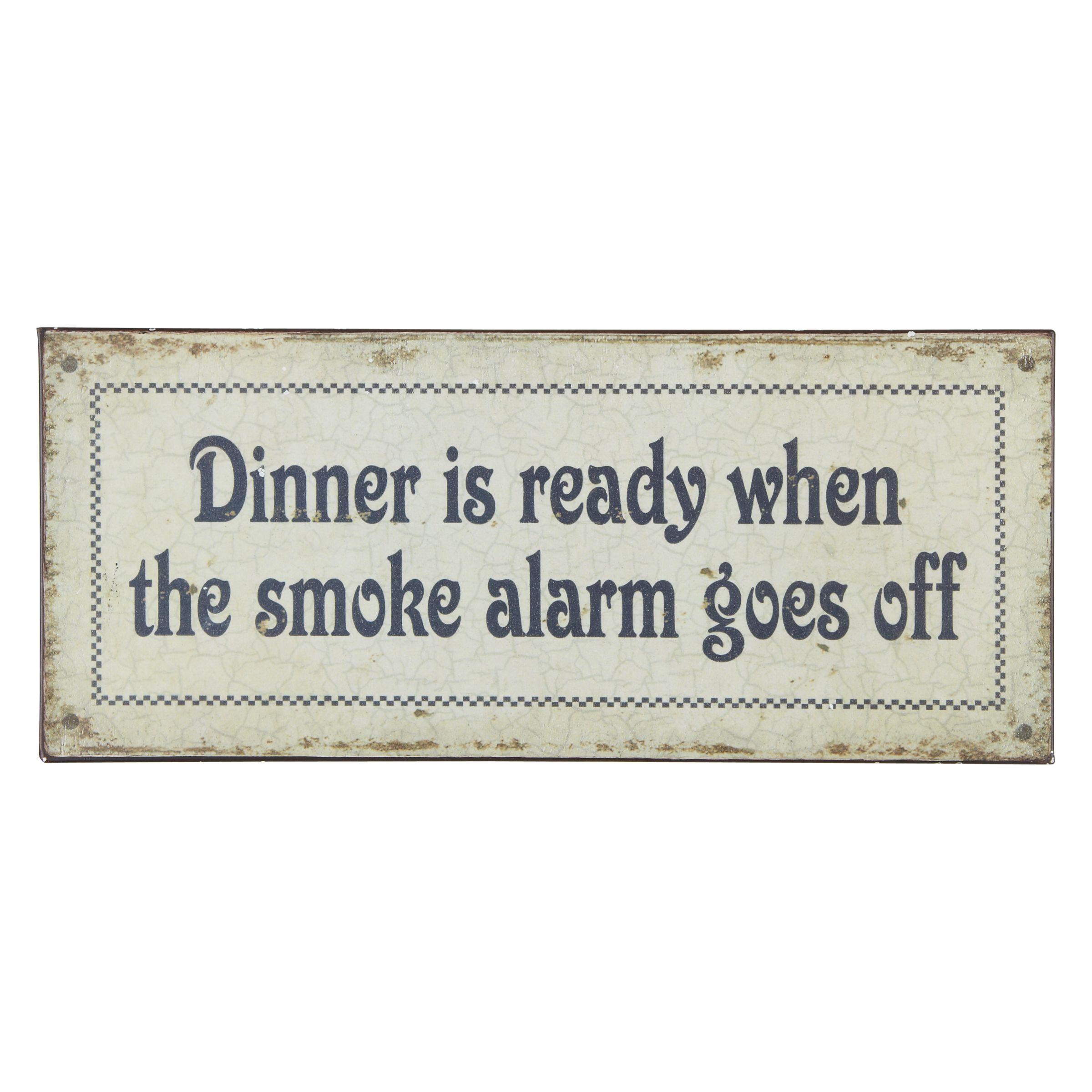 Dinner is Ready Plaque, 13 x 31cm