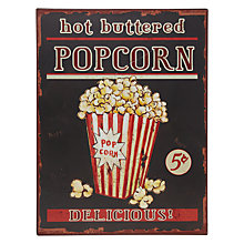 Buy John Lewis Popcorn Plaque Online at johnlewis.com