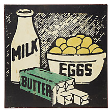 Buy John Lewis Milk Eggs Butter Plaque Online at johnlewis.com