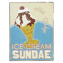 Buy John Lewis Ice Cream Sundae Plaque Online at johnlewis.com