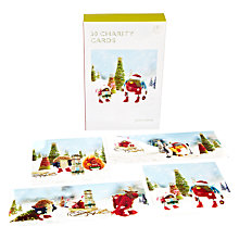 Buy John Lewis Bumper Fun With Felt Charity Christmas Cards, Box of 30 Online at johnlewis.com
