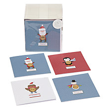 Buy John Lewis Cube Button Buddies Charity Christmas Cards, Box of 24 Online at johnlewis.com