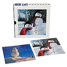 Buy Dark Room Snow Man Christmas Cards, Box of 16 Online at johnlewis.com