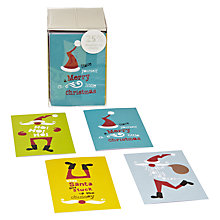 Buy John Lewis Mini Santa Text Charity Christmas Cards, Box of 24 Online at johnlewis.com