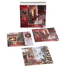 Buy Ling Design Christmas Tree Scenes Christmas Cards, Box of 12 Online at johnlewis.com