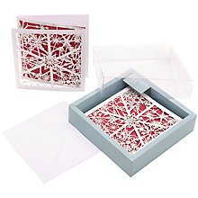 Buy John Lewis Snowflake Laser Cut Charity Christmas Cards, Box of 5 Online at johnlewis.com