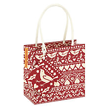 Buy Emma Bridgewater Joy Gift Bag, Red, Small Online at johnlewis.com