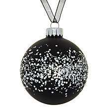Buy John Lewis Sparkle Glass Bauble Online at johnlewis.com