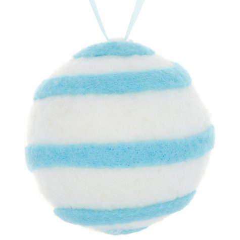 Buy John Lewis Stripe Wool Bauble Online at johnlewis.com