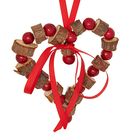 Buy John Lewis Bark And Berry Heart Tree Decoration Online at johnlewis.com
