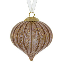 Buy John Lewis Ribbed Mercurised Glass Onion Tree Decoration Online at johnlewis.com