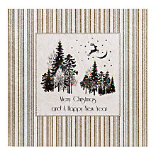 Buy Five Dollar Shake Gold Woodland Scene Christmas Cards, Box of 6 Online at johnlewis.com