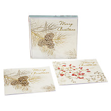 Buy John Lewis Duo Pinecones And Berries Charity Christmas Cards, Box of 10 Online at johnlewis.com