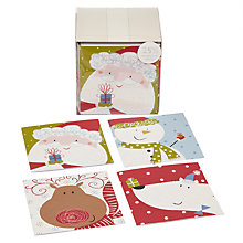 Buy John Lewis Cube Flitter Friends Charity Christmas Cards, Box of 24 Online at johnlewis.com