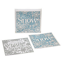 Buy John Lewis Duo Frosted Lace Charity Christmas Cards, Box of 10 Online at johnlewis.com
