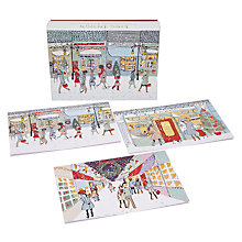Buy Ling Design Christmas Shops Christmas Cards, Box of 12 Online at johnlewis.com