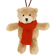 Buy John Lewis Mini Lewis Bear Tree Decoration, Brown Online at johnlewis.com