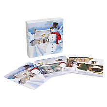 Buy Ling Design Snowman Christmas Cards, Box of 12 Online at johnlewis.com