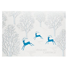 Buy John Lewis Premium New Deer Charity Christmas Cards, Box of 8 Online at johnlewis.com