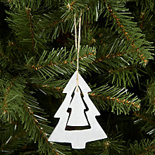 Buy John Lewis Alabaster Tree Decoration, White Online at johnlewis.com