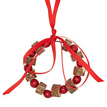 Buy John Lewis Bark And Berry Wreath Tree Decoration Online at johnlewis.com