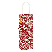 Buy Emma Bridgewater Joy Bottle Gift Bag, Red Online at johnlewis.com