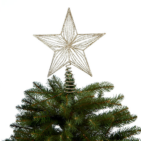 Buy John Lewis Glitter Star Tree Topper, Champagne Online at johnlewis.com