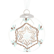 Buy John Lewis Etched Star Glass Bauble, Clear Online at johnlewis.com