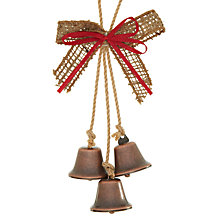 Buy John Lewis Hessian Bell Hanging Tree Decoration Online at johnlewis.com