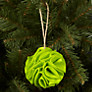 Buy John Lewis Scrunchie Felt Bauble Online at johnlewis.com
