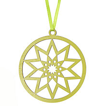 Buy House by John Lewis Laser Cut Star Tree Decoration, Green Online at johnlewis.com