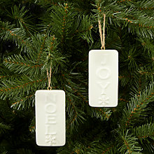 Buy John Lewis Ceramic Hanger Tree Decoration, White, Assorted Online at johnlewis.com