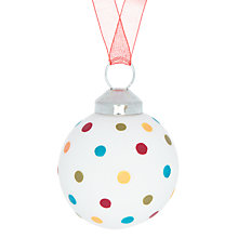 Buy House by John Lewis Spot Glass Bauble, Multi Online at johnlewis.com