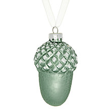 Buy John Lewis Flitter Glass Acorn Tree Decoration Online at johnlewis.com