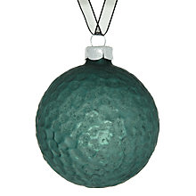 Buy John Lewis Matt Dimpled Glass Bauble, Blue Online at johnlewis.com