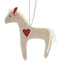 Buy Cambric & Cream Rural Pony Tree Decoration Online at johnlewis.com