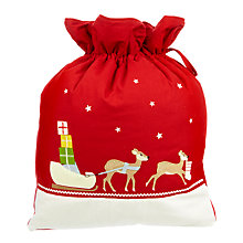 Buy John Lewis Father Christmas Sleigh Sack Online at johnlewis.com