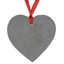 Buy John Lewis Slate Heart Tree Decoration, Grey Online at johnlewis.com