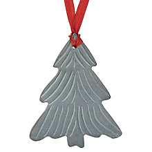 Buy John Lewis Slate Christmas Tree Decoration, Grey Online at johnlewis.com