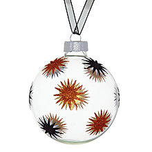Buy John Lewis Star Glass Bauble, Clear Online at johnlewis.com