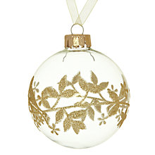 Buy John Lewis Glitter Bird Tree Glass Bauble Online at johnlewis.com