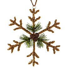 Buy John Lewis Hessian Snowflake Tree Decoration Online at johnlewis.com