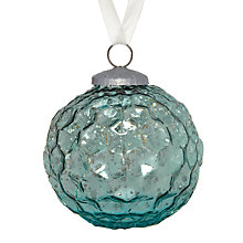 Buy John Lewis Textured Glass Bauble Online at johnlewis.com