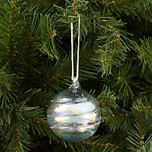 Buy John Lewis Swirl Glass Bauble, Clear Online at johnlewis.com